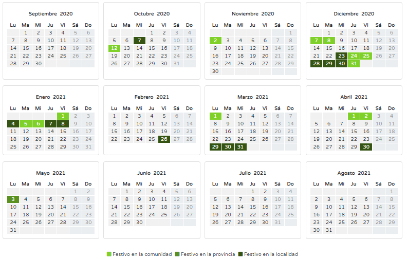 Calendario Oficial 2020/2021